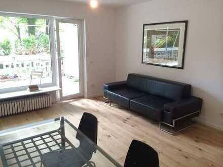 Hochwertig möblierte 1,5-Zimmer-Wohnung mit großer Terrasse und EBK
