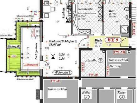 geräumige Souterrain 1,5-Zimmer-Wohnung mit Balkon/Terrasse in Nordkirchen-Capelle