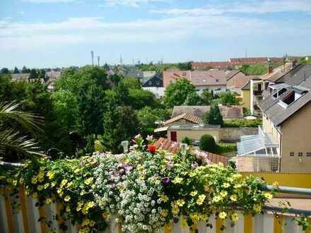 Ausblick garantiert ! Moderne Dachwohnung mit großen Balkon zu vermieten www.immo-kraemer.de