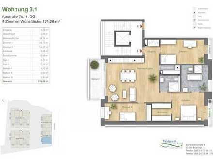 4-ZIMMER-WOHNTRAUM mit großem Wohnbereich, offener Küche und drei Balkonen!