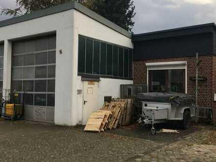 Halle mit Rolltor, Büro im Keller und opt. 2 Stellplätzen zu vermieten in Lokstedt/Eppendorf