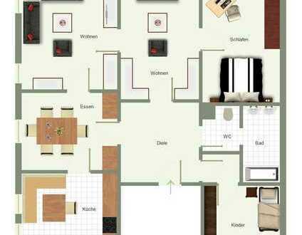 Große Wohnung mitten in der Stadt