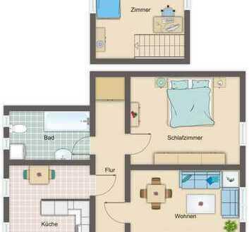 Wohnung über zwei Etagen mit tollen Blick ins Grüne