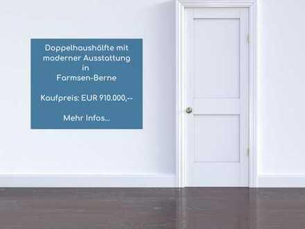 Doppelhaushälfte mit moderner Ausstattung in Farmsen-Berne