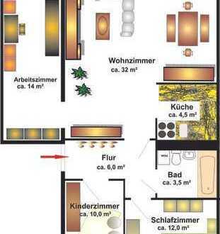 Neu sanierte große 4-Raum-Wohnung mit Aufzug!!