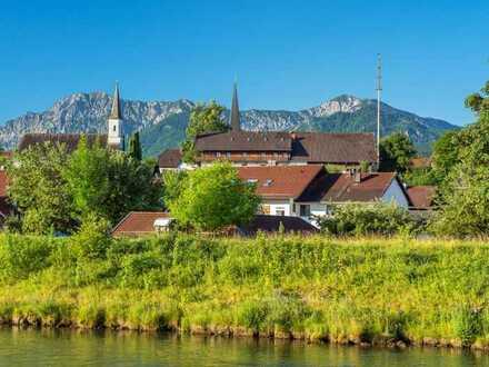Helle großzügige 4-Zi-Wohnung im Holzhaus mit Balkon und Garten - 30 min von MUC - A 95 Großweil