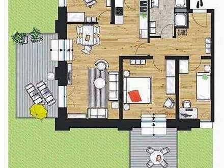 """""""Am Funkerberg"""" - Quadrillenhalle: Großzügige 4-Zimmer-Wohnung mit zwei Gartenterrassen"""