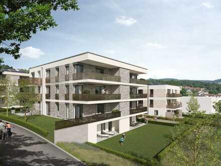 Lichtdurchflutete 2-Zimmer-Wohnung mit Terrasse und privaten Gartenanteil