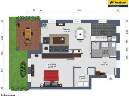 2-Zimmer Neubau Eigentumswohnung im Erdgeschoss
