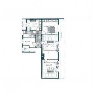 4 Zimmer Wohnung inkl. Einbauküche, Balkon u. Terrasse