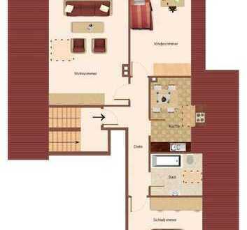 gemütliche 3 Zimmer DG-Wohnung im Hildner Süden