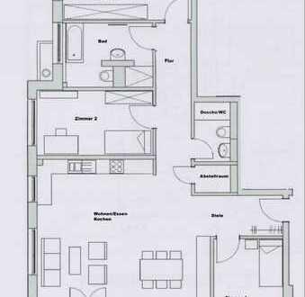 Erstbezug: attraktive 4-Zimmer-EG-Wohnung mit EBK und Terrasse in Oberboihingen