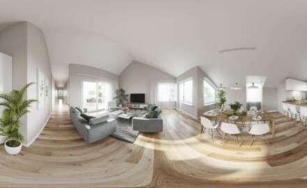Besonders anders: exklusive Dachwohnung mit 162 m² Wohnfläche auf einer Wohnetage!