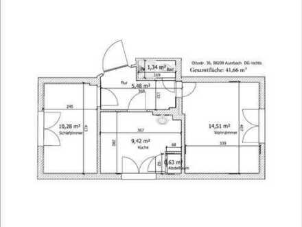 2 Zimmer Wohnung EG mit Einbauküche