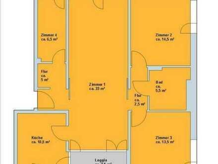 Moderne, lichtdurchflutete 3,5-Zimmer-Wohnung mit Einbaukü