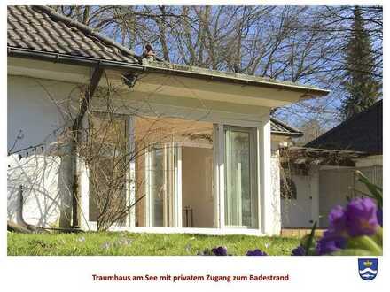 TRAUMHAFT LEBEN, WOHNEN UND ARBEITEN in einer Villa am Starnberger See mit privatem Seezugang