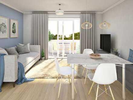Familienwohnung mit 4 Zimmern und Garten.