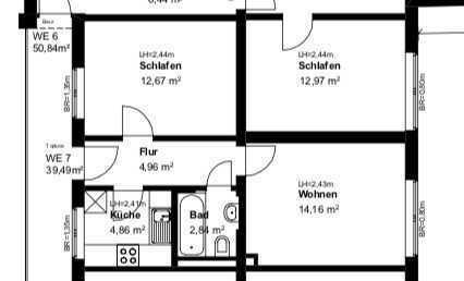 Zwei-Zimmer-Wohnung an der Wertachbrücke für Single und junge Paare