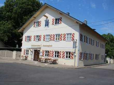 4,3 %Nettorendite!!Landgasthof mit schönem Biergarten u. 2 sehr großen Wohnungen in Idyllischer Lage