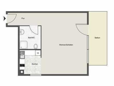 1 Z-Appartement mit Balkon im Hochparterre in Leimen