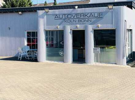 Autohandel Verkaufsplatz mit exklusivem Büro
