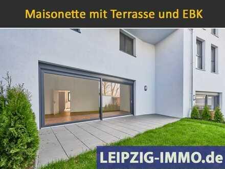 Erstbezug ** Maisonette mit Terrasse *** Wohnen an der Weißen Elster * Terrasse * EBK * 2 Bäder *