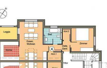 Erstbezug: exklusive 2-Zimmer-Wohnung mit Loggia in Waldbronn (Wohnung 4)