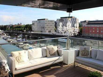 Kranhaus Nord | Luxuswohnung mit Sauna in der Kölner Innenstadt - Rheinauhafen !