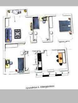 Neuwertige 4-Zimmer-Wohnung mit Balkon und EBK in Nördlingen