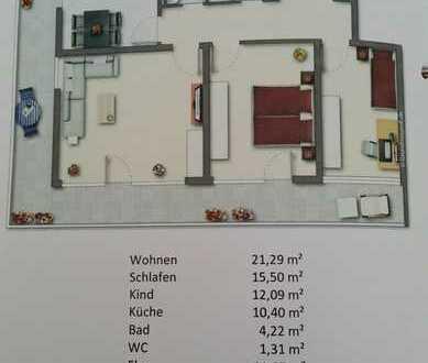 3-Zimmer Wohnung in Lahr im 8. Stock