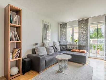 360° Rundgang: Helle 2 Zimmerwohnung mit optimalem Grundriss in Bestlage von Baldham, vermietet!