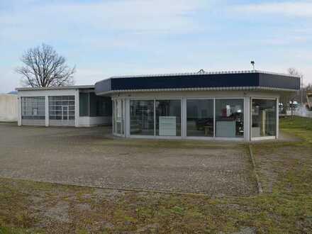 Zur Vermietung: etabliertes Autohaus mit Werkstatt und Außengelände im Gewerbegebiet FR-Hochdorf!