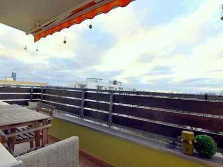 hoch über den Dächern von Erlangen, 3-Zi-Whg mit Balkon