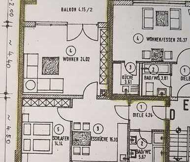 Gepflegte 2,5-Zimmer-Hochparterre-Wohnung mit Balkon in Weilheim-Schongau (Kreis)