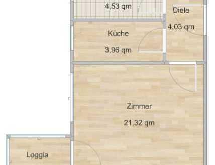Schöne 1-Zimmer-Wohnung mit Loggia *provisionsfrei*
