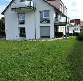 neuwertige 4-Zi-Whg. mit Balkon u Garten, gehobene Ausstattung, ruhige Ortsrandlage in Wankheim