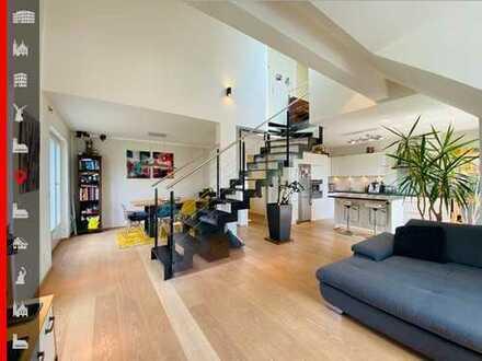 Traumhaft helle und hochwertig ausgestattete 3-Zimmer-Dachgeschoss-Galeriewohnung