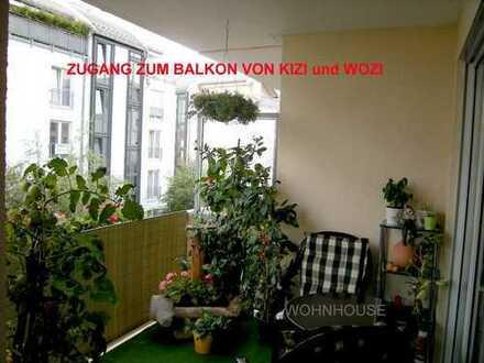 +++3-Zi.Whg.großer Balkon+Aufzug+TG+Gäste WC+Laminat NEU - Großzschocher++++