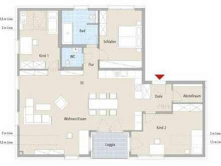 Über den Dächern-4,5-Zimmer-Wohnung