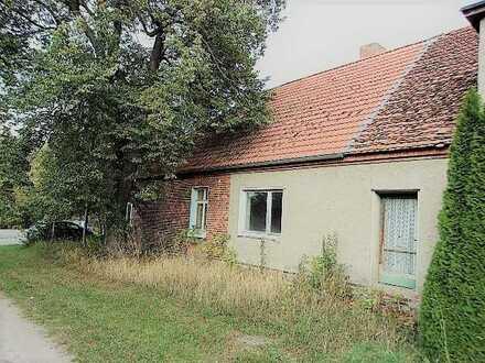 Doppelhaushälfte auf großem Grundstück am Dorfteich