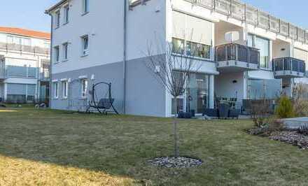 Exklusive neuwertige Wohnung in Nördlingen mit großzügigen liebevoll angelegtem Garten