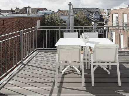 Sie haben Lust auf ein Glas Champagner ? Ihre neue Ferienwohnung mit Dachterrasse erwartet Sie ...