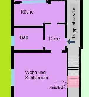 Einzimmer-Wohnung mit Balkon Köln-Merkenich