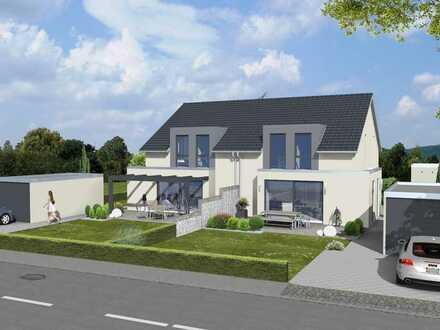 1 moderne Doppelhaushälfte incl. Garage sowie 375m² Grundstück in bevorzugter Lage von Achstetten