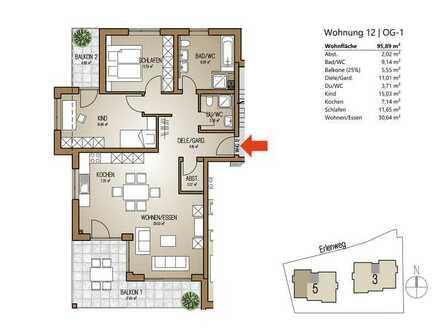 moderne 3-Zimmer-Wohnung im OG