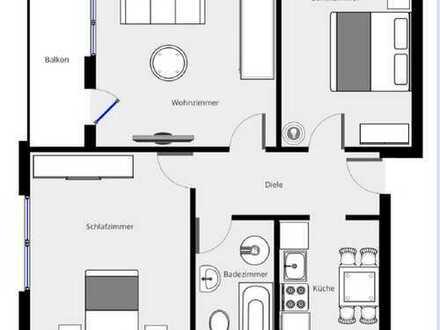 Stilvolle, sanierte 3-Zimmer-Wohnung mit Balkon und EBK in Heilbronn
