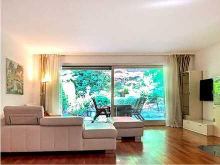 Stilvolle 4-Zimmer-Erdgeschosswohnung mit großem Garten in Harlaching, München