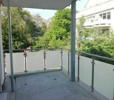 3-Zimmer-Neubau-Wohnung mit 2 Bädern, Tiefgarage, Fahrstuhl, großem Balkon und Einbauküche