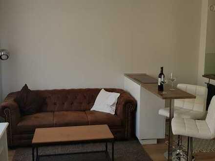 Anspruchsvolle 1-Zimmerwohnung, zentral, sehr ruhig, kompl. eingerichtet, Balkon