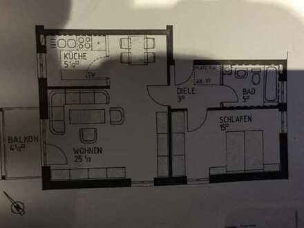 gepflegte 2-Zimmer-Wohnung mit Balkon und Einbauküche in Starnberg